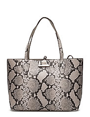 OBBI INSIDE OUT TOTE - NATURAL PYTHON /