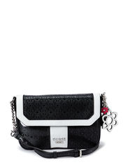 BIANCO NERO CROSSBODY FLAP - BLACK MULTI