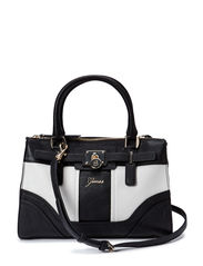 GREYSON SMALL SATCHEL - BLACK MULTI