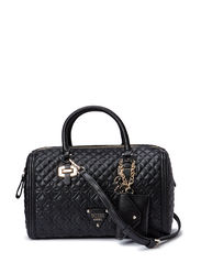 SUNSET QUILT BOX SATCHEL - BLACK