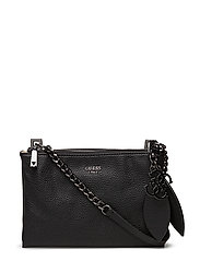 OU LOU MINI CROSSBODY TOP ZIP - BLACK