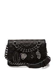 STASSIE MINI CROSSBODY FLAP - BLACK