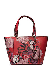 AMRYN TOTE - RED FLORAL
