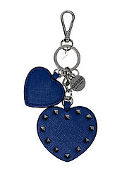 BRITTA DOUBLE HEART KEYCHAIN - BLUE
