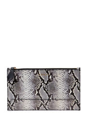 LADY LUXE LARGE POUCH - BLACK MULTI