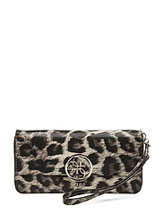 DEVYN SLG LARGE ZIP AROUND - LEOPARD