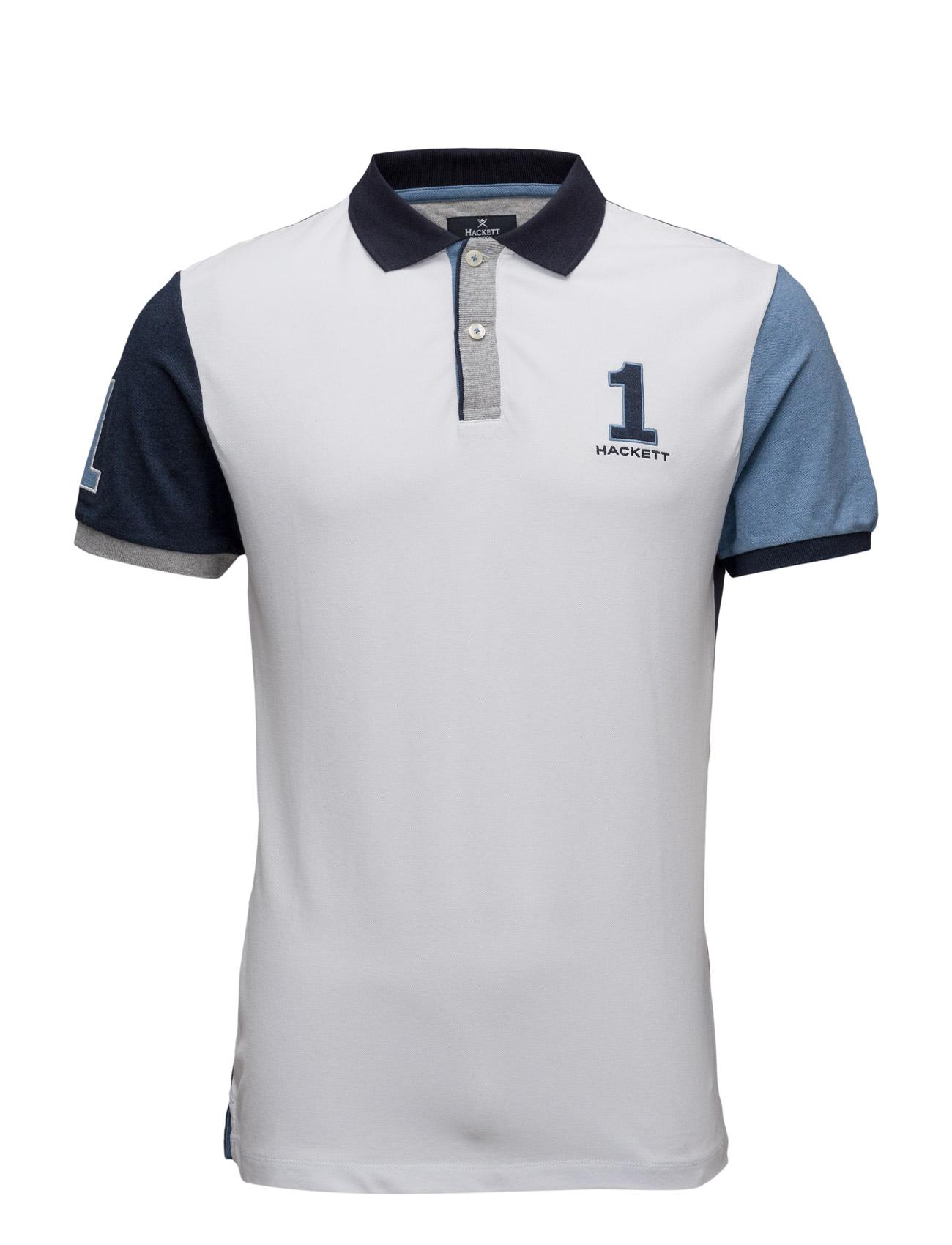 Marl Bk Cross Hackett Kortærmede polo t-shirts til Mænd i hvid