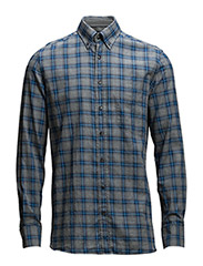 GREY MEL FLANNEL CHE - GREY/BLUE