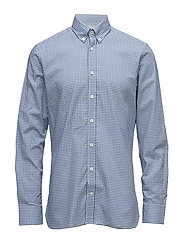 MELANGE CHECK SHIRT - BLUE/WHITE