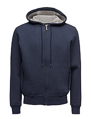 DBL FACE HOODY - NAVY