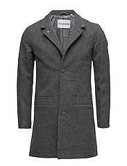 Bankers Trench Coat - CHALKY GREY MELANGE