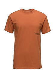 Casual Tee - RUSTY ORANGE SMALL CHEST LOGO