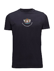 Casual Tee Artwork - NAVY FRONT LOGO