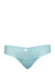LOW RISE THONG SIGNATURE LACE - TRUE BLUE