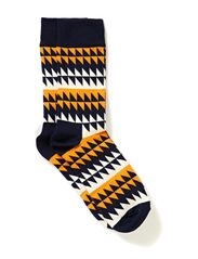 DISRUPTED STRIPE - darkblue/orange