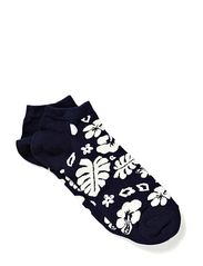 LOW SOCKS HAWAII - Black/White