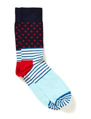 STRIPE & DOTS - blue/red