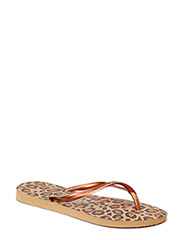 SLIM ANIMALS FLIP FLOP - BEIGE