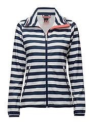 W NAIAD FLEECE JACKET - EVENING BLUE STRIPE