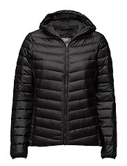 W VERGLAS HOODED DOWN INSULATO - BLACK