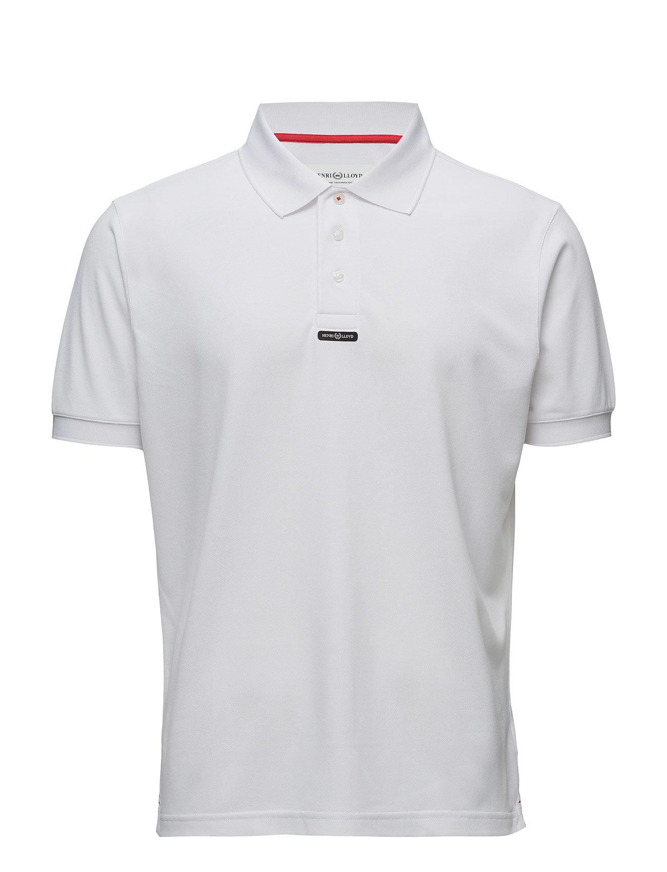 Fast-Dri Silver Polo Plain Henri Lloyd Kortærmede polo t-shirts til Herrer i