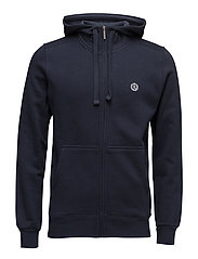 BREDGAR FULL ZIP SWEAT - NAV