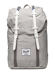 Retreat backpack - LIGHT GREY CROSSHATCH/WHITE RU