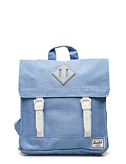 Survey Kids Backpack - CHAMBRAY CROSSHATCH/WHITE RUB