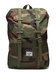 Retreat Youth backpack - WOODLAND CAMO/ARMY RUBBER