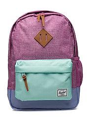 Heritage Youth backpack - FUSCHIA CROSSHATCH/ARUBA BLUE/