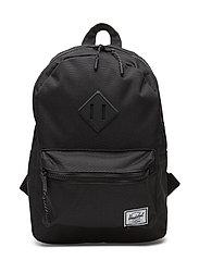 Heritage Kids backpack - BLACK/BLACK RUBBER