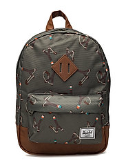 Heritage Kids backpack - STICKS & STONES/TAN SYNTHETIC