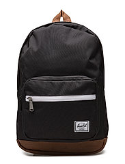 Pop Quiz Youth backpack - BLACK/TAN SYNTHETIC LEATHER
