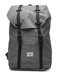 Retreat Mid-Volume Backpack - RAVEN CROSSHATCH/BLACK RUBBER