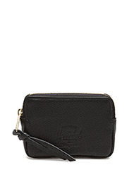Oxford Pouch Leather RFID - BLACK PEBBLED LEATHER