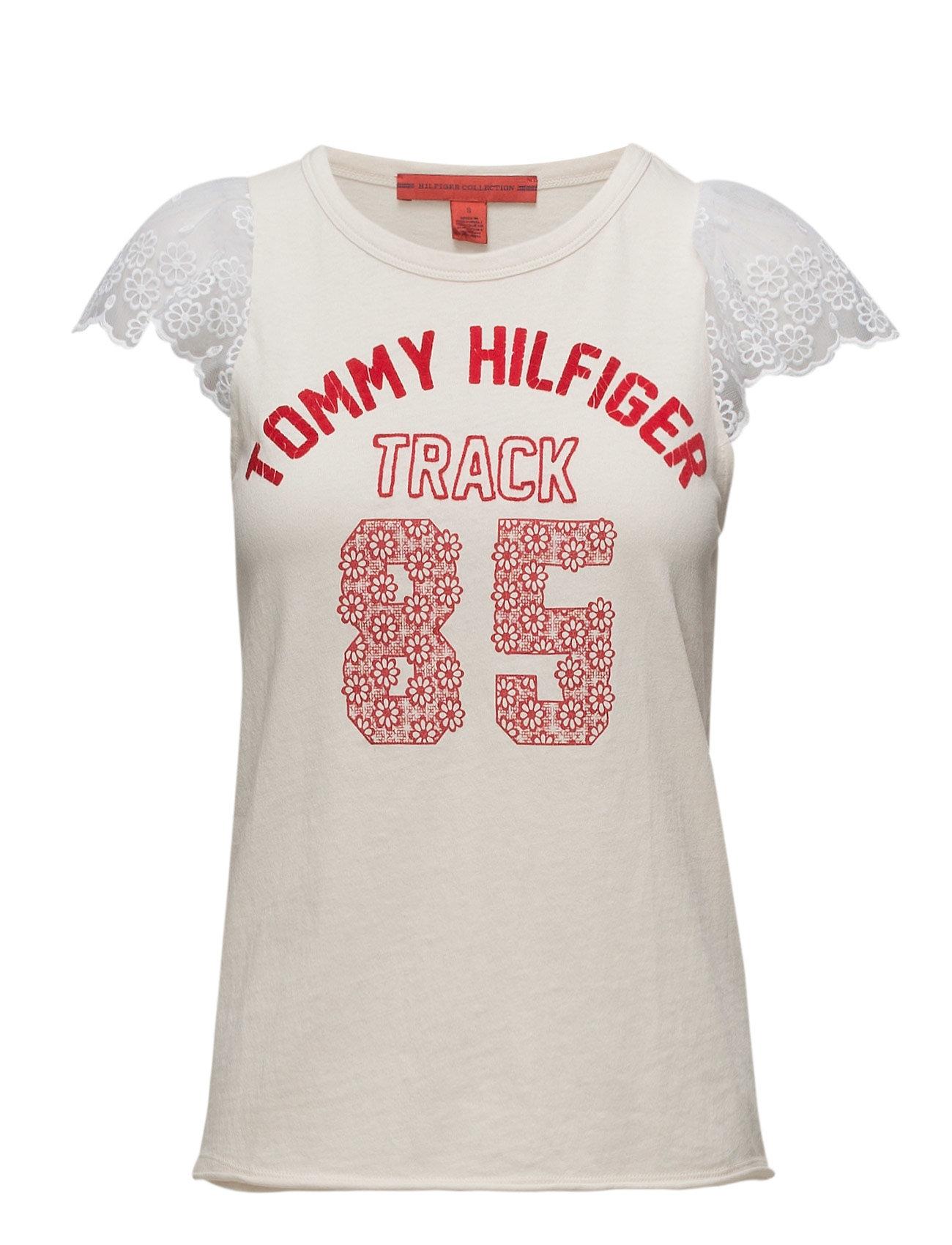 Track And Lace Frill Ss T Shir Hilfiger Collection Kortærmede til Damer i