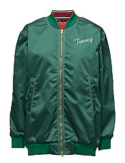 OVERSIZED BOMBER JKT - EVERGREEN