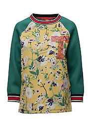 60'S FLORAL LS SWEATSHIRT - GOLDEN ROD/MULTI