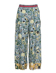 PATCHWORK FLORAL PANTS - GOLDEN ROD/MULTI