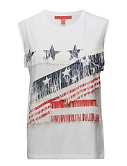 AMERICAN NS GRAPHIC T-SHIRT - MARSHMALLOW/ MULTI