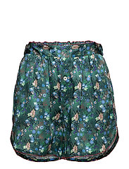 CACTUS PRINT PJ SHORTS - EVERGREEN/MULTI