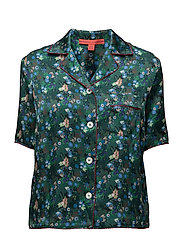 CACTUS PRINT LS PJ SHIRT - EVERGREEN/MULTI