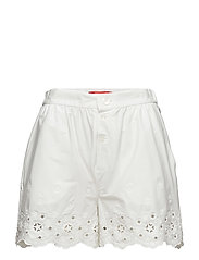 EYELETTING SHORTS - MARSHMALLOW