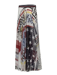 VICTORY FINALE SKIRT - SNOW WHITE / MULTI