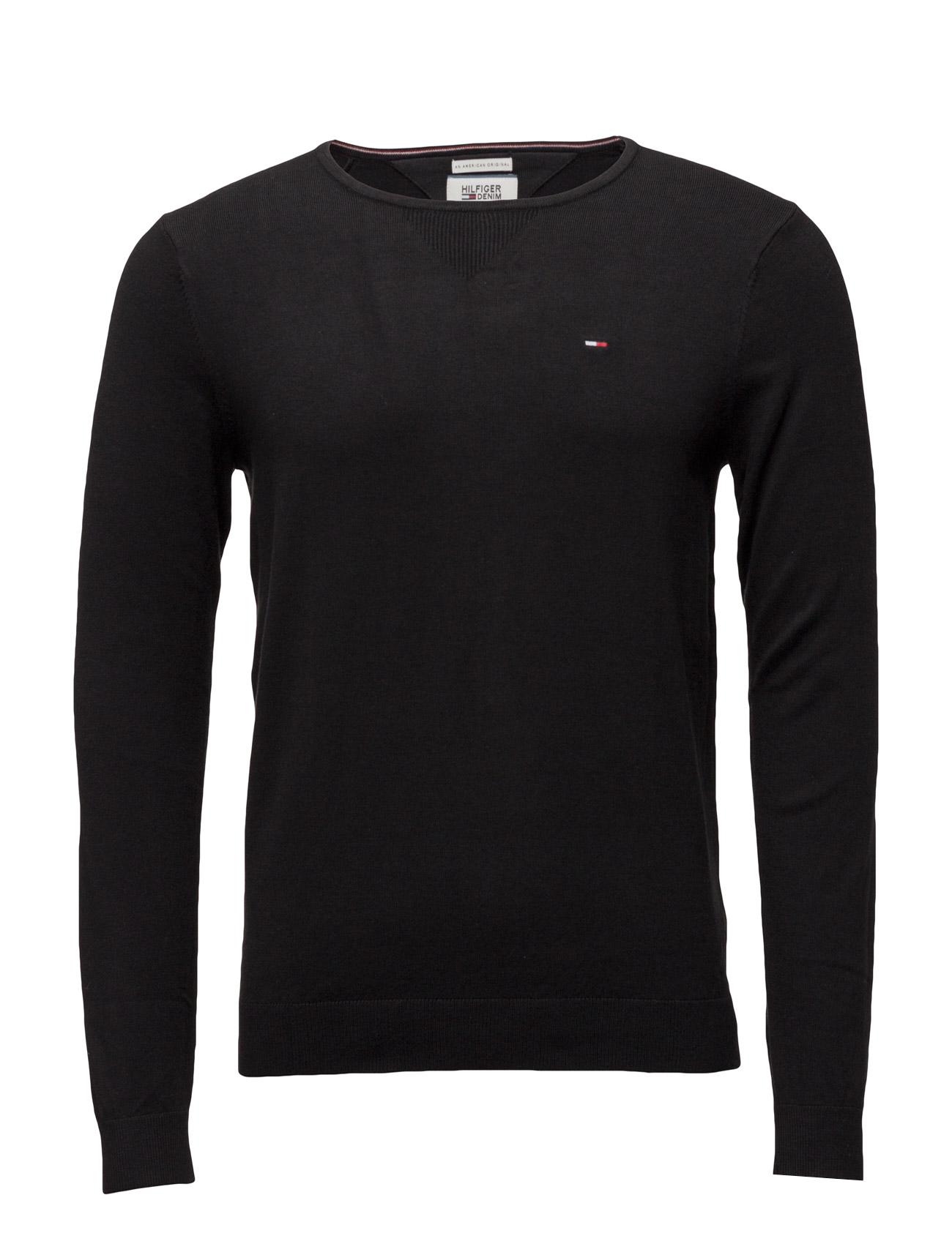 Original Cn Sweater L/S Hilfiger Denim Striktøj til Mænd i Sort
