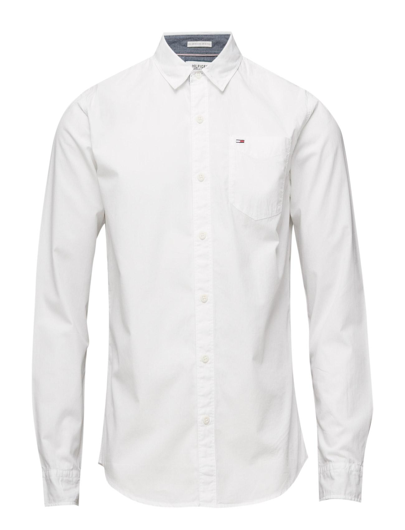 Original End On End Shirt L/S Hilfiger Denim Casual sko til Herrer i hvid