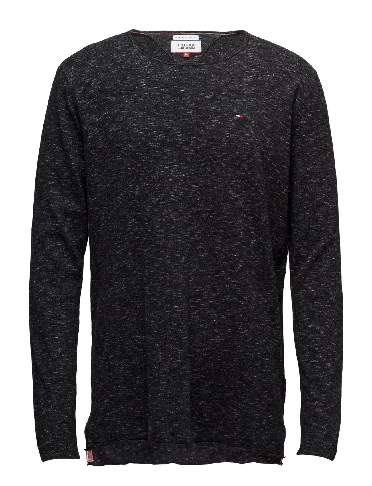 Thdm Cn Sweater L/S 5 Hilfiger Denim Rundhalsede til Mænd i Sort