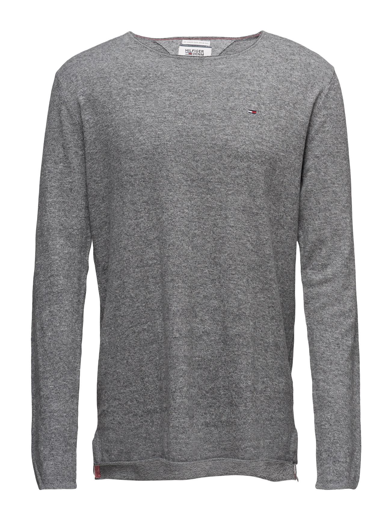 Thdm Cn Sweater L/S 5 Hilfiger Denim Striktøj til Mænd i Grå