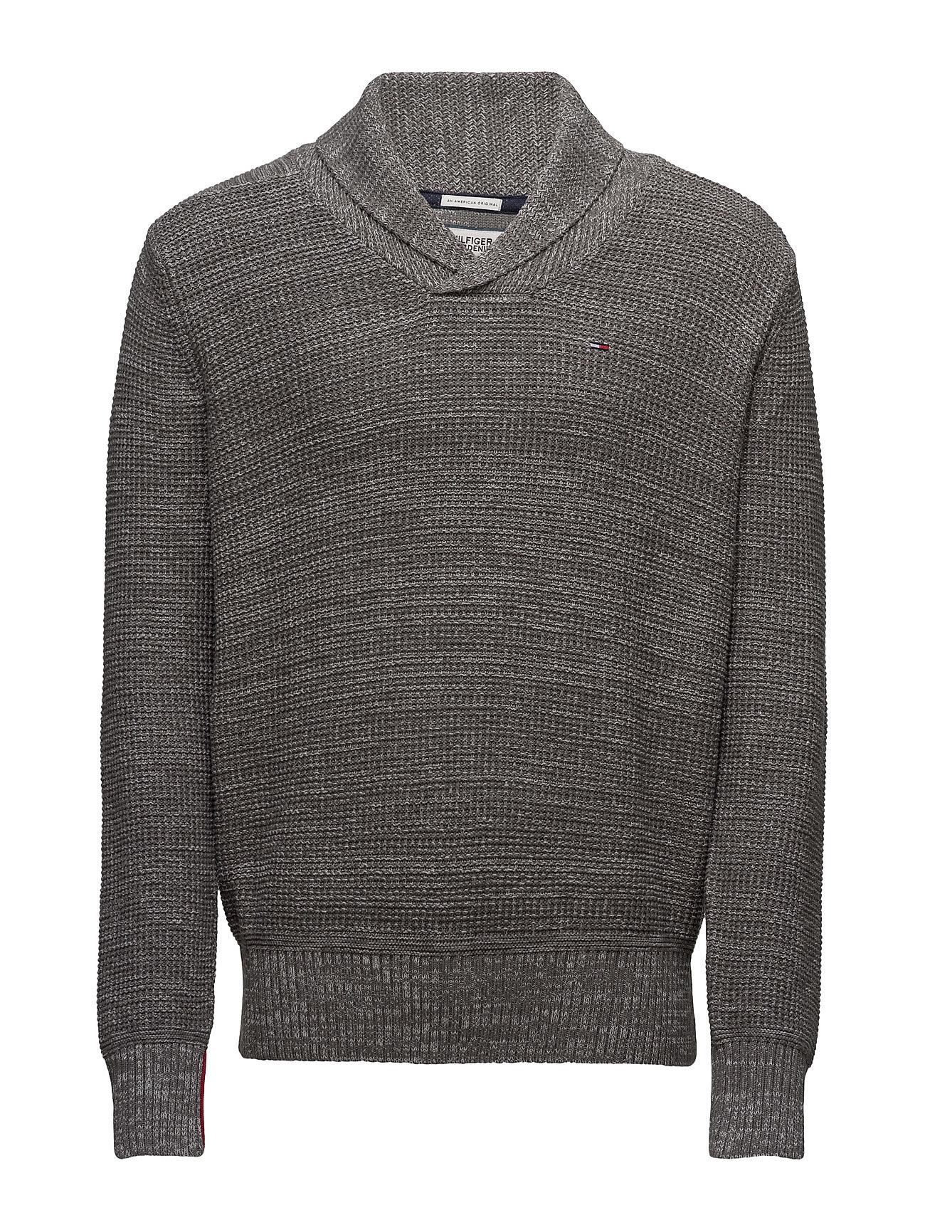 Thdm Sn Sweater L/S 14 Hilfiger Denim V-halsede til Herrer i Blå