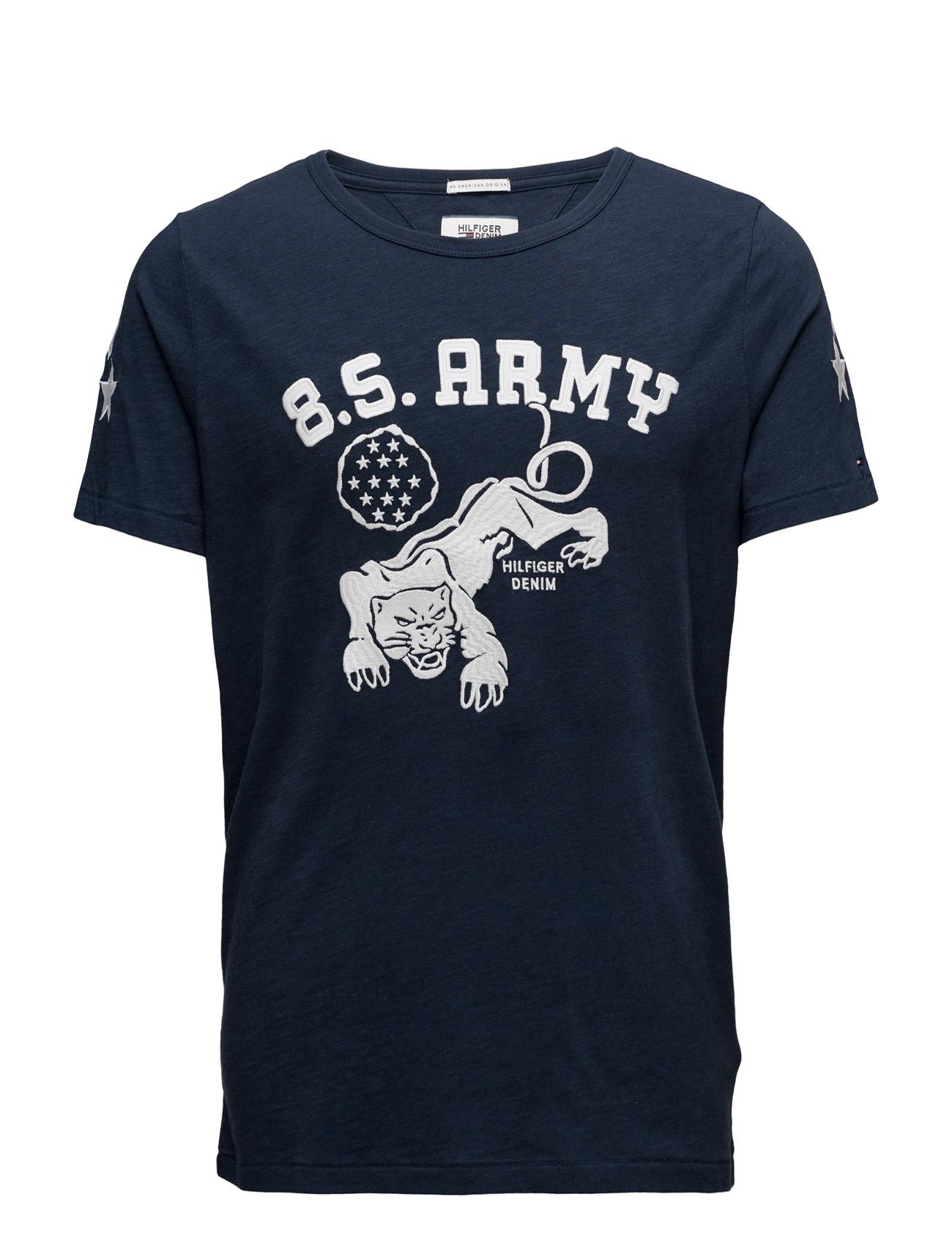 Thdm Cn T-Shirt S/S 33 Hilfiger Denim Kortærmede til Mænd i Blå